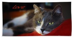 Beach Towel featuring the photograph The Look Of Love by Vicki Ferrari