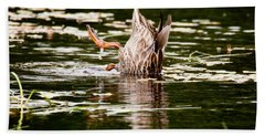 Beach Towel featuring the photograph The Meaning Of Duck by Brent L Ander