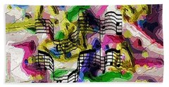 The Music In Me Beach Towel by Alec Drake
