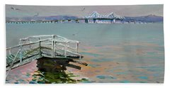 The Old Deck And Tappan Zee Bridge Beach Towel