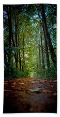 The Pathway In The Forest Beach Towel