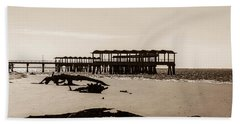 Beach Sheet featuring the photograph The Pier by Shannon Harrington