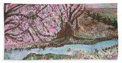 The Pink Tree Beach Towel