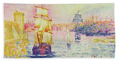 The Port Of Marseilles Beach Towel