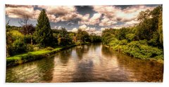 The River Exe At Bickleigh Beach Towel by Rob Hawkins