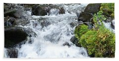 Beach Towel featuring the photograph The Roadside Stream by Chalet Roome-Rigdon