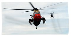 The Sea King Helicopter And The Agusta Beach Towel