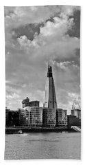The Shard London Black And White Beach Towel