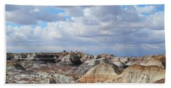 Beach Towel featuring the photograph The Sky Clears By Blue Mesa by Lynda Lehmann