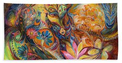 The Walls Of Jerusalem. The Original Can Be Purchased Directly From Www.elenakotliarker.com Beach Towel