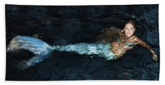 There Is A Mermaid In The Pool Beach Towel