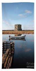 Threave Castle Reflection Beach Towel