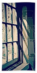 Beach Sheet featuring the photograph View Through The Window - Painterly Effect by Marilyn Wilson