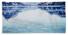 Thunersee Von Leissigen Beach Towel by Ferdinand Hodler