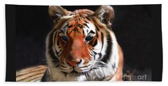 Tiger Blue Eyes Beach Towel