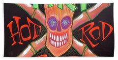 Tiki Hot Rod Bar Beach Towel