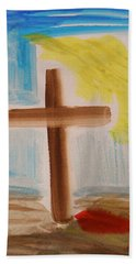 Tim Tebow's Cross-easter Monday Beach Towel
