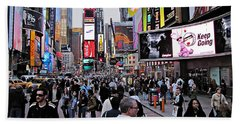 Times Square New York Beach Towel