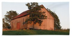 Tobacco Barn II In Color Beach Towel by JD Grimes