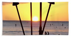 Torched Sunset Beach Towel