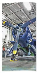 Torpedo Bomber Beach Towel by Jason Abando