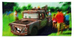 Beach Towel featuring the photograph Tow Mater Live by Mario Carini