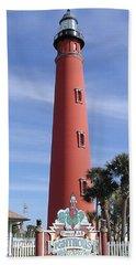 Towering Lighthouse Beach Sheet