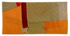 Beach Towel featuring the painting Transition 4 Red Crepe by Cliff Spohn