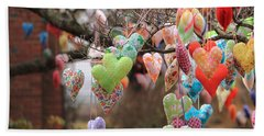 Tree Hearts Beach Towel
