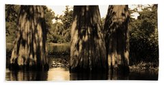 Trees In The Basin Beach Towel