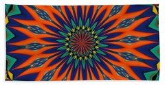 Tropical Punch Beach Towel by Alec Drake