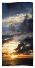 Tropical Sunset Beach Towel by Fabrizio Troiani