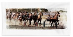 Beach Sheet featuring the photograph Trotting 3 by Pedro Cardona