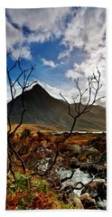 Beach Sheet featuring the photograph Tryfan And Tree by Beverly Cash