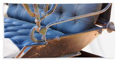 Tufted Leather Interior Of Antique Carriage Beach Towel