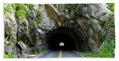 Tunnel On A Lonely Road Beach Towel