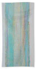 Beach Towel featuring the painting Turquoise Remembrance Door   Tribute To Hari E. Thomas by Asha Carolyn Young