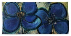 Two Blue Poppies Beach Sheet