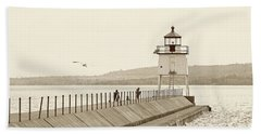 Two Harbors Beach Towel