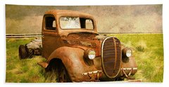 Two Ton Truck Beach Towel by Alyce Taylor