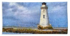 Tybee Island Lighthouse Beach Towel by Lynne Jenkins