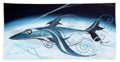 U2 Spyfish - Spy Plane As Abstract Fish - Beach Towel by J Vincent Scarpace