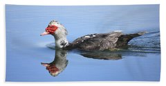 Beach Towel featuring the photograph Ugly Duckling by Penny Meyers