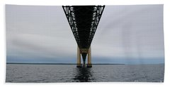 Under The Mackinac Bridge Beach Towel