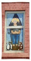 Beach Sheet featuring the photograph Urban Window 2 by Lenore Senior