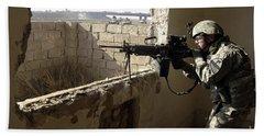 U.s. Army Soldier Searching Beach Towel