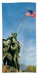 U.s Marine Corps Memorial Beach Towel by Dan Wells