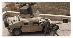 U.s. Military Soldiers Take A Well Beach Towel