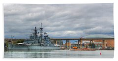 Beach Sheet featuring the photograph Uss Little Rock by Michael Frank Jr