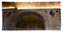 Vaulted Brick Arches Beach Sheet by Lynn Palmer